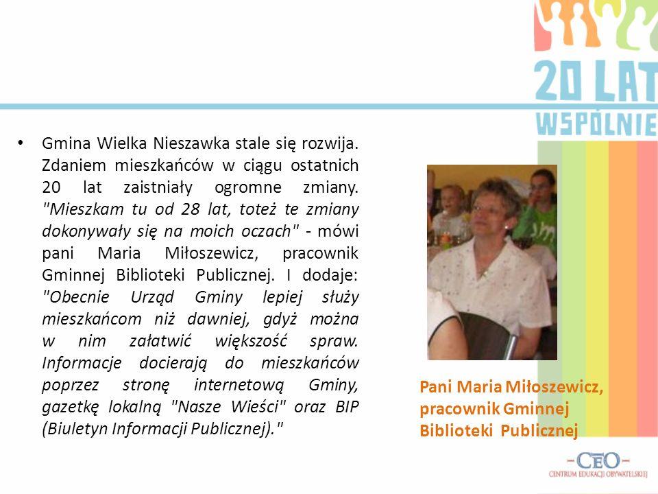 Pani Maria Miłoszewicz, pracownik Gminnej Biblioteki Publicznej