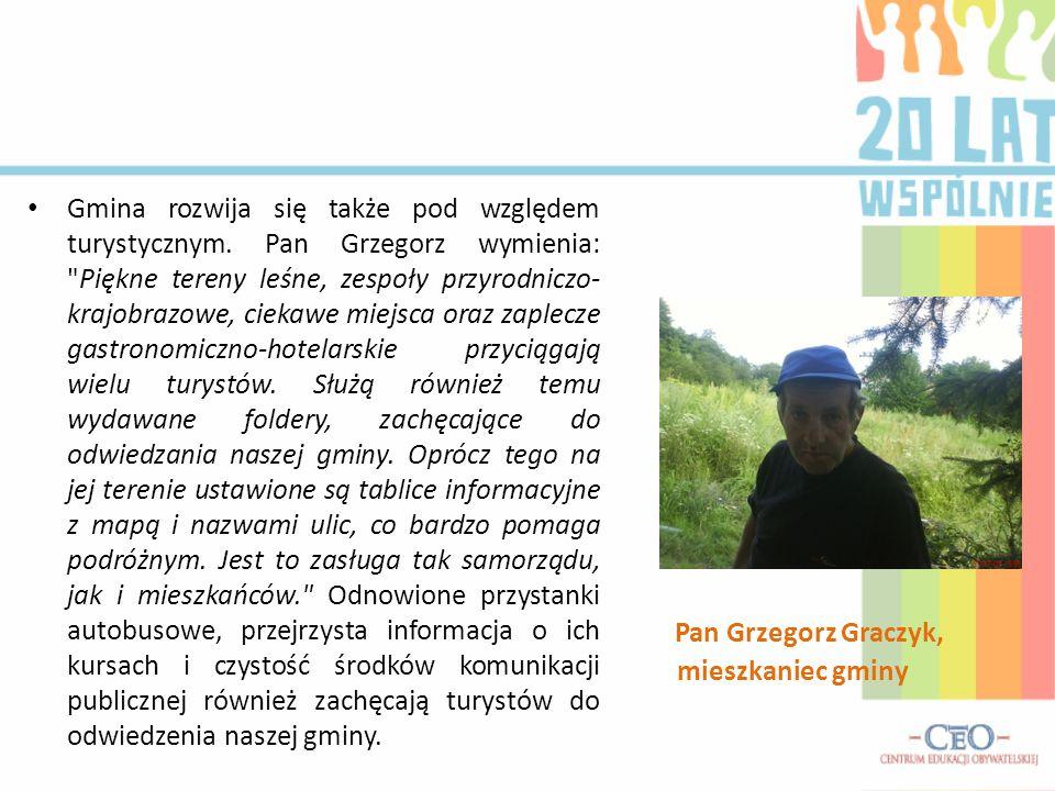 Pan Grzegorz Graczyk, mieszkaniec gminy