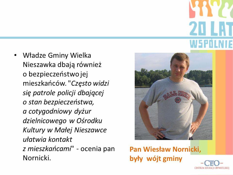 Pan Wiesław Nornicki, były wójt gminy