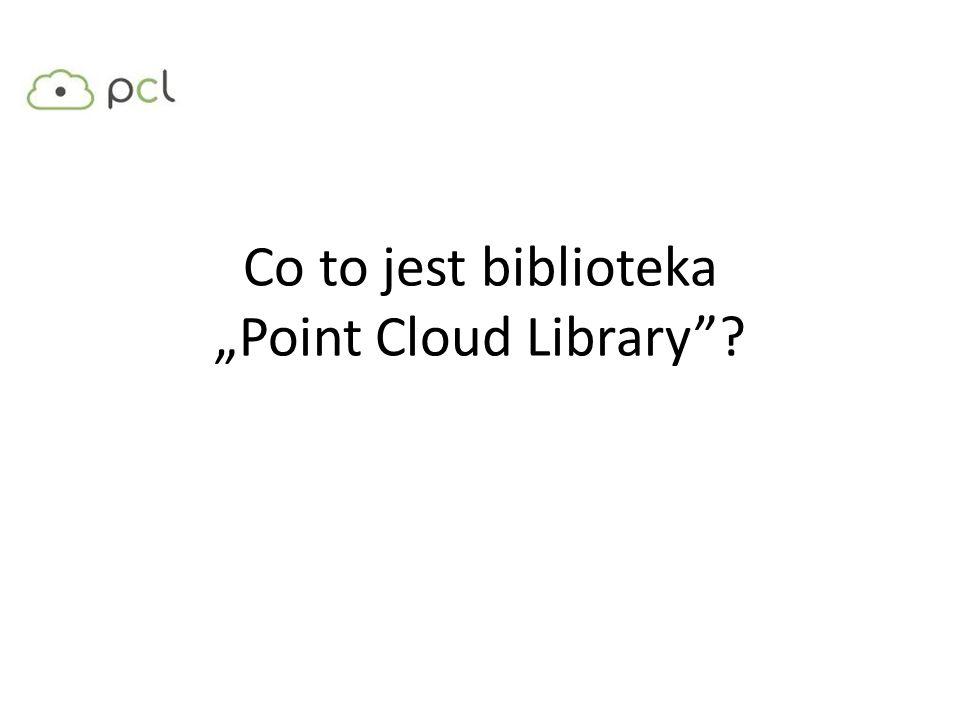 "Co to jest biblioteka ""Point Cloud Library"