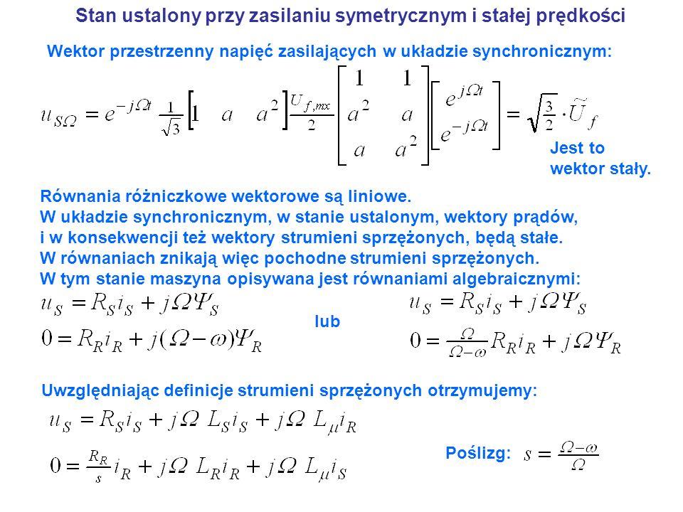Stan ustalony przy zasilaniu symetrycznym i stałej prędkości