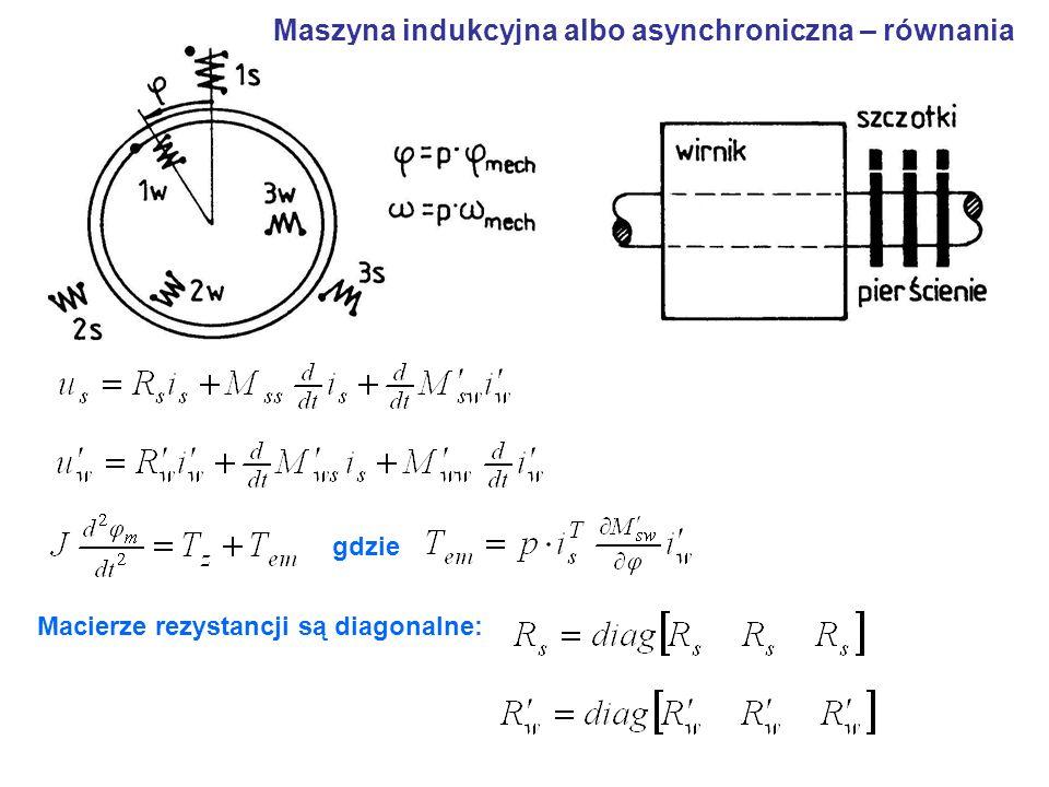 Maszyna indukcyjna albo asynchroniczna – równania
