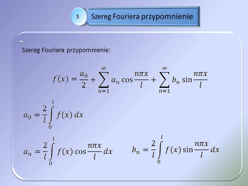 Szereg Fouriera przypomnienie
