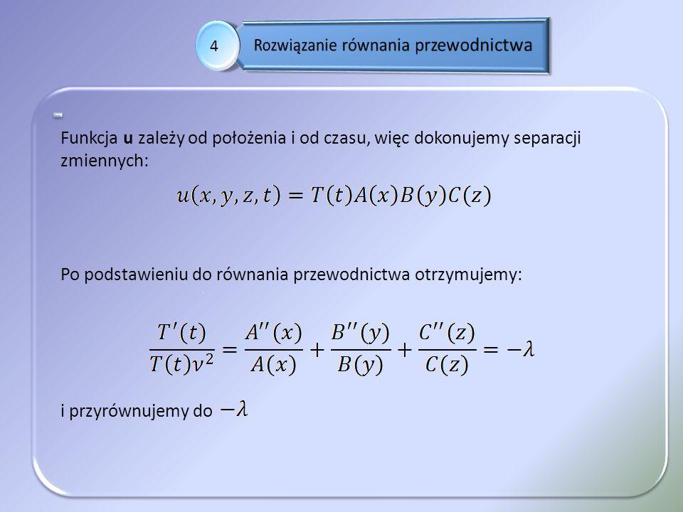 Rozwiązanie równania przewodnictwa