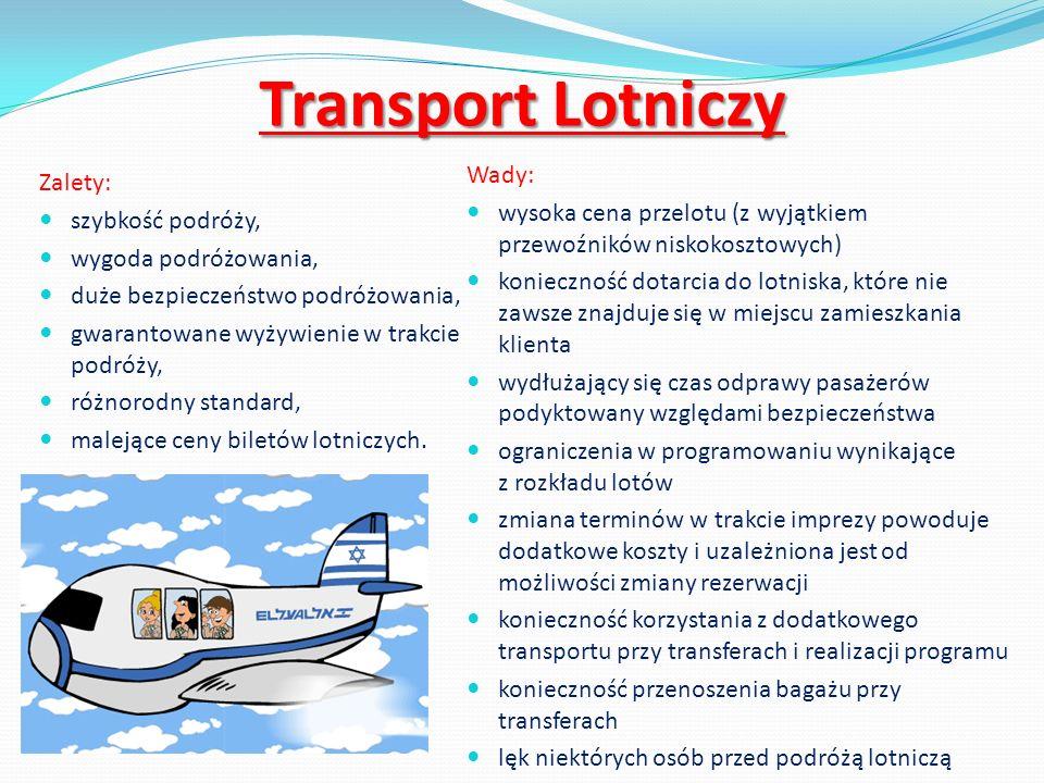 Transport Lotniczy Wady: Zalety: