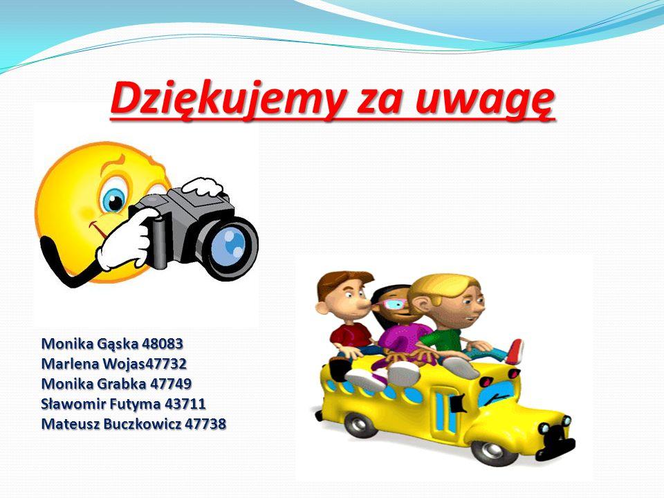 Dziękujemy za uwagę Monika Gąska 48083 Marlena Wojas47732