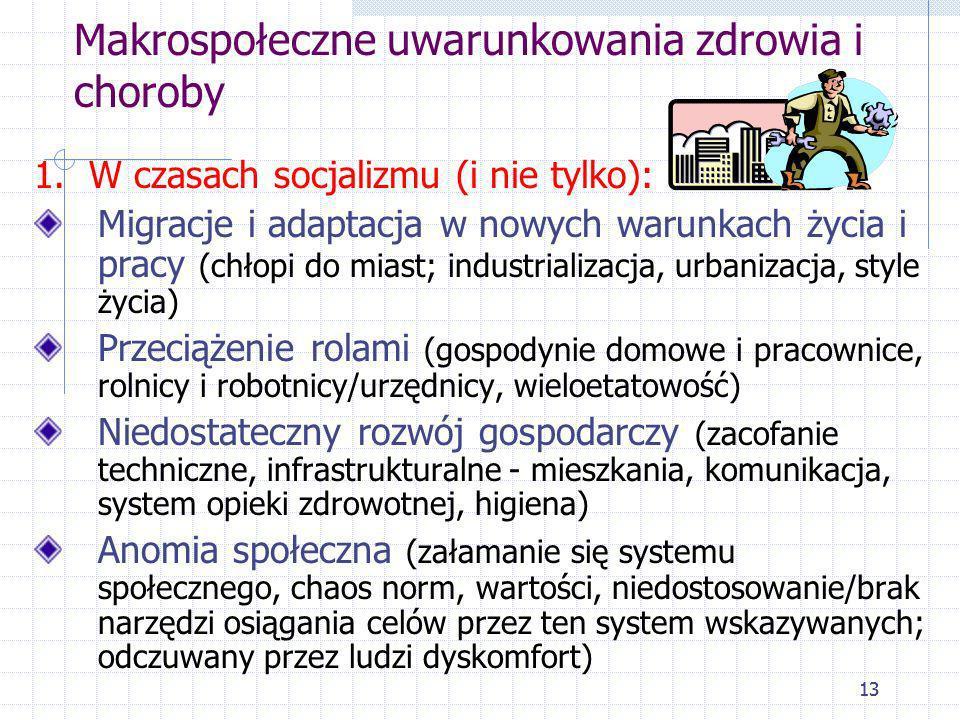 Makrospołeczne uwarunkowania zdrowia i choroby
