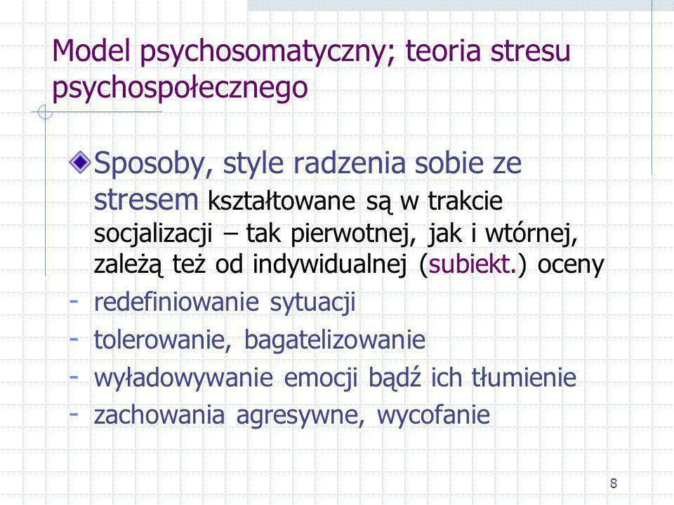 Model psychosomatyczny; teoria stresu psychospołecznego