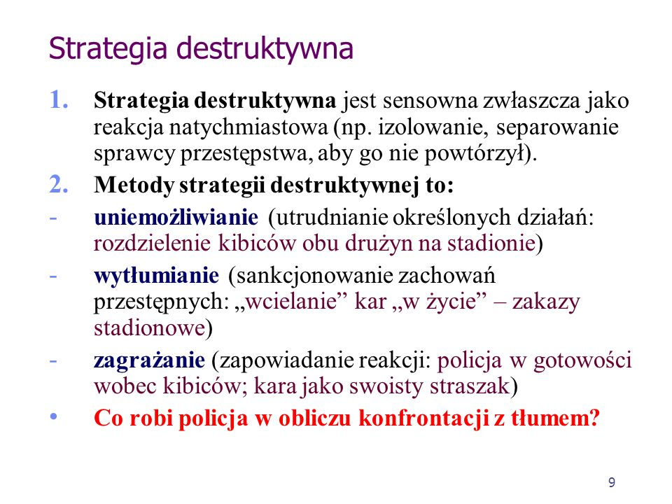 Strategia destruktywna