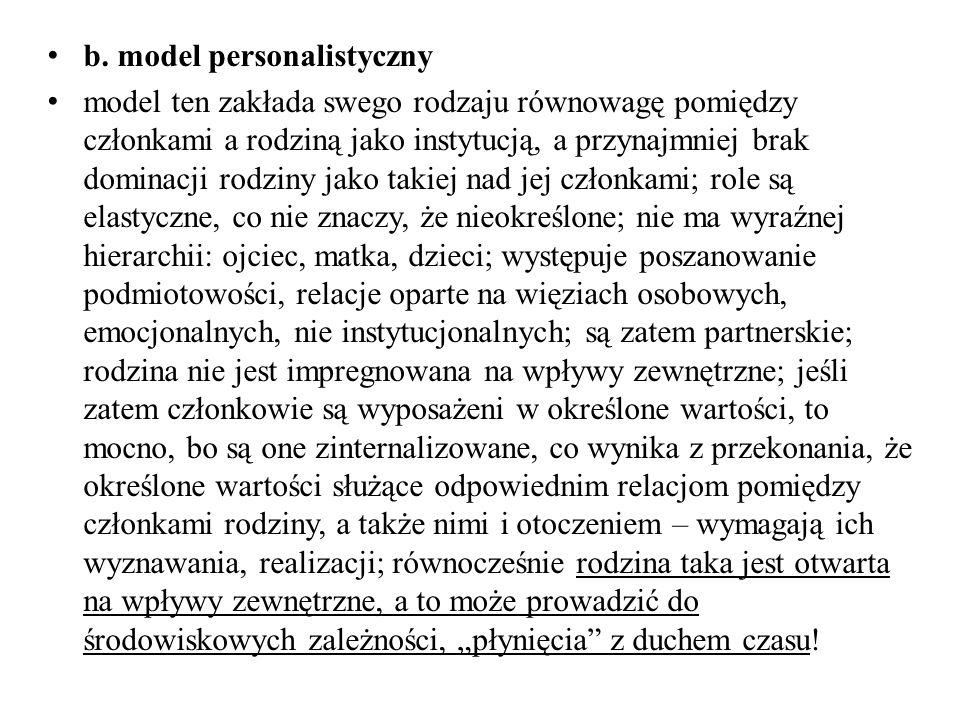 b. model personalistyczny