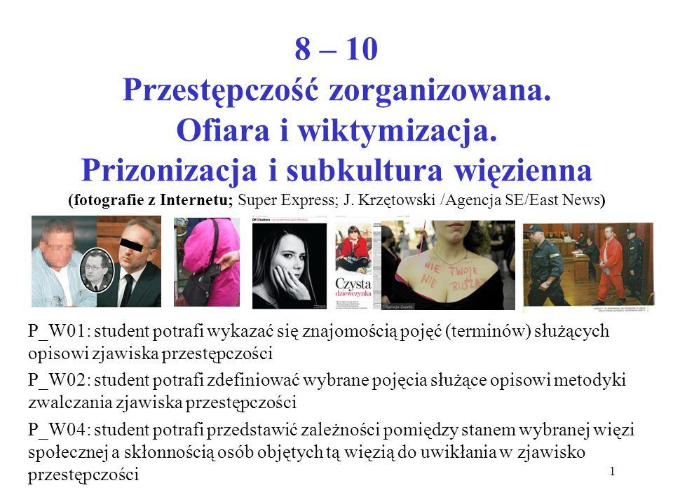 8 – 10 Przestępczość zorganizowana. Ofiara i wiktymizacja