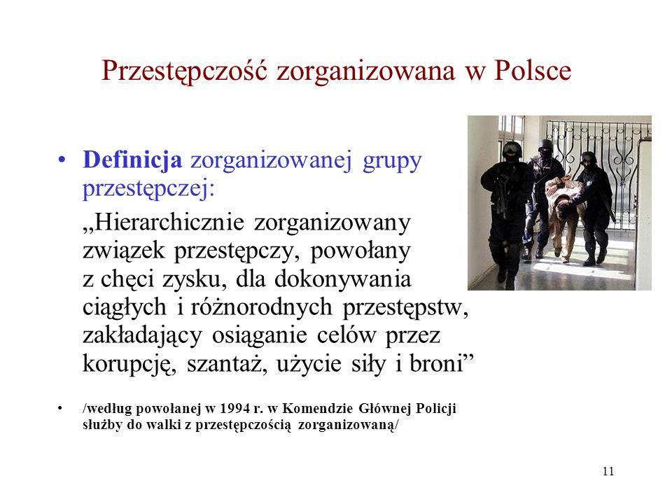 Przestępczość zorganizowana w Polsce