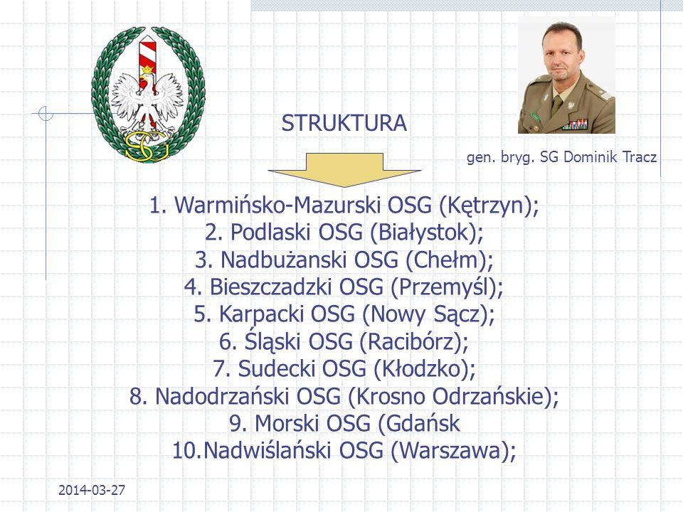 Warmińsko-Mazurski OSG (Kętrzyn); Podlaski OSG (Białystok);