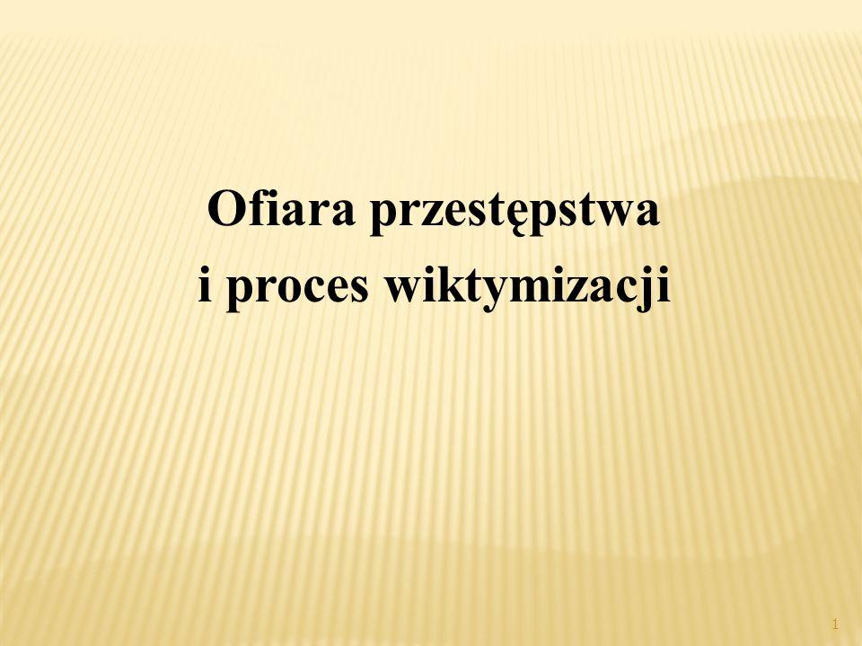 Ofiara przestępstwa i proces wiktymizacji