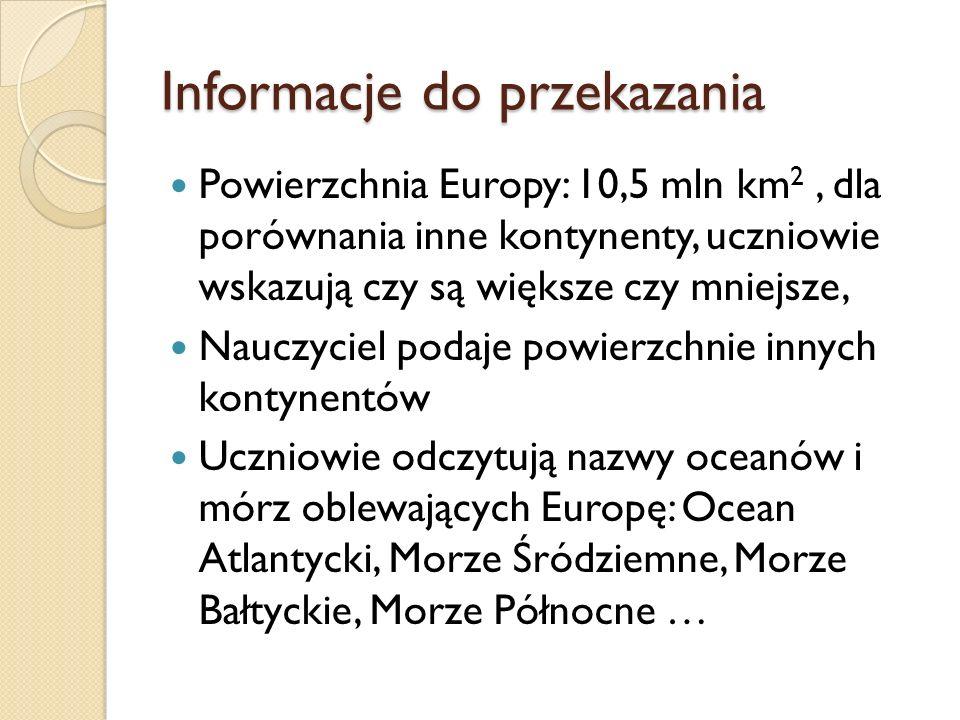 Informacje do przekazania