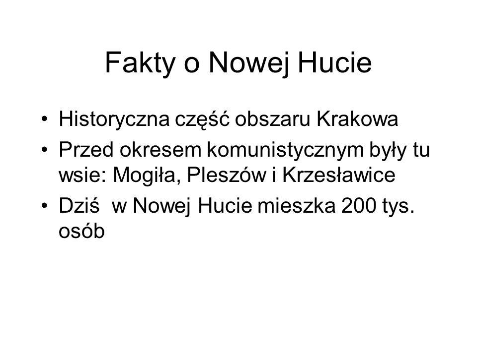 Fakty o Nowej Hucie Historyczna część obszaru Krakowa