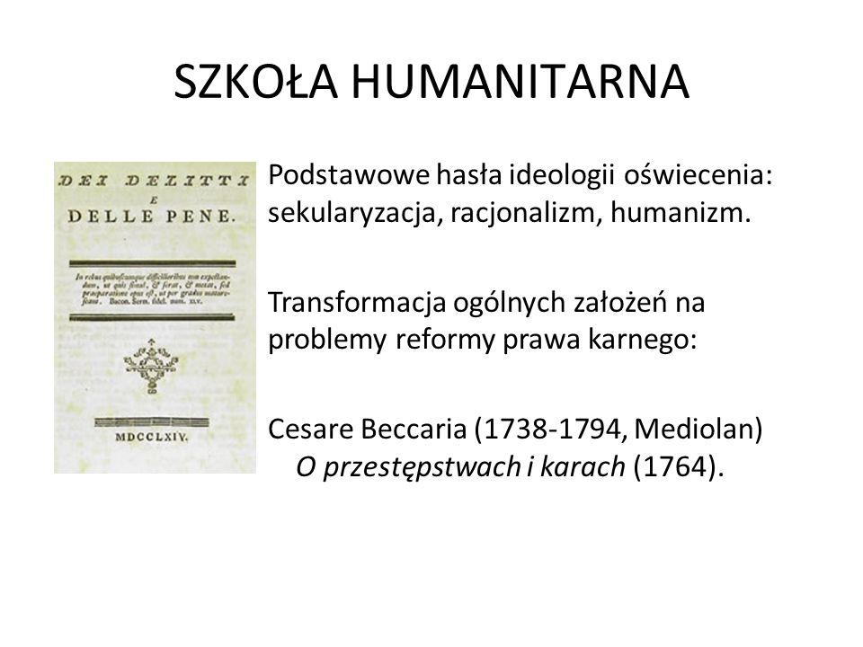 SZKOŁA HUMANITARNA Podstawowe hasła ideologii oświecenia: sekularyzacja, racjonalizm, humanizm.
