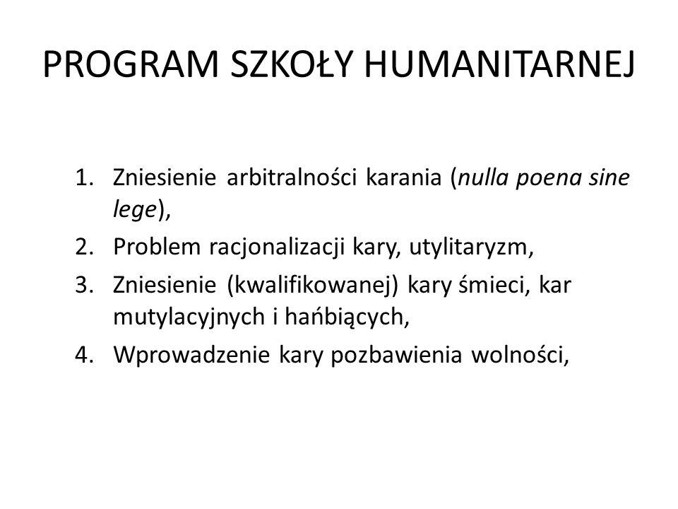PROGRAM SZKOŁY HUMANITARNEJ