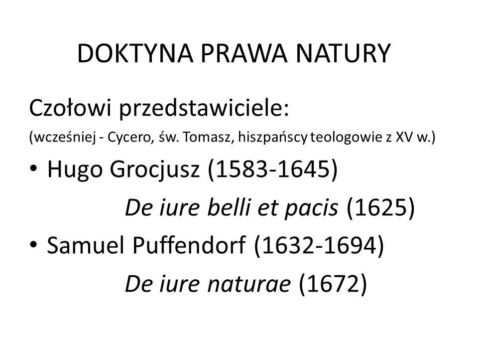 DOKTYNA PRAWA NATURY Czołowi przedstawiciele: