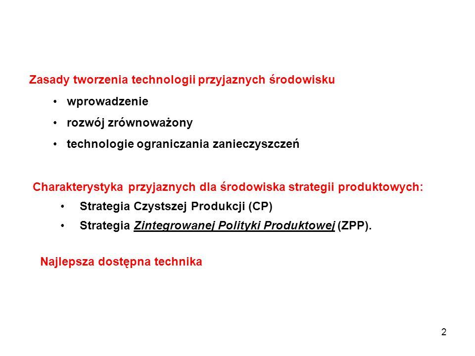 Zasady tworzenia technologii przyjaznych środowisku