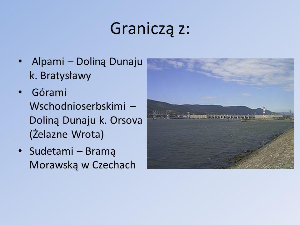 Graniczą z: Alpami – Doliną Dunaju k. Bratysławy