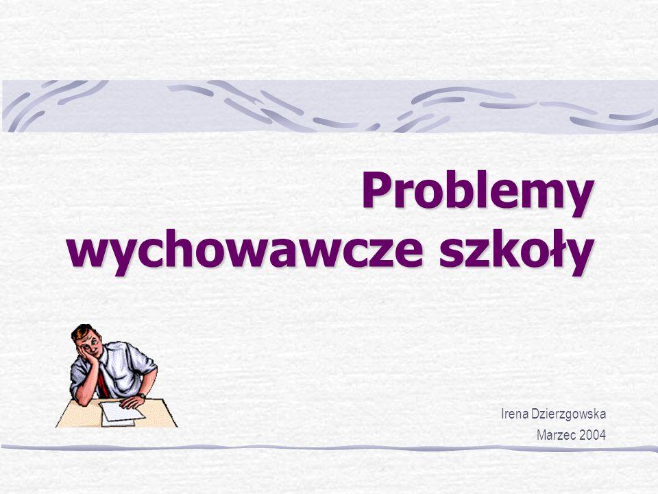 Problemy wychowawcze szkoły