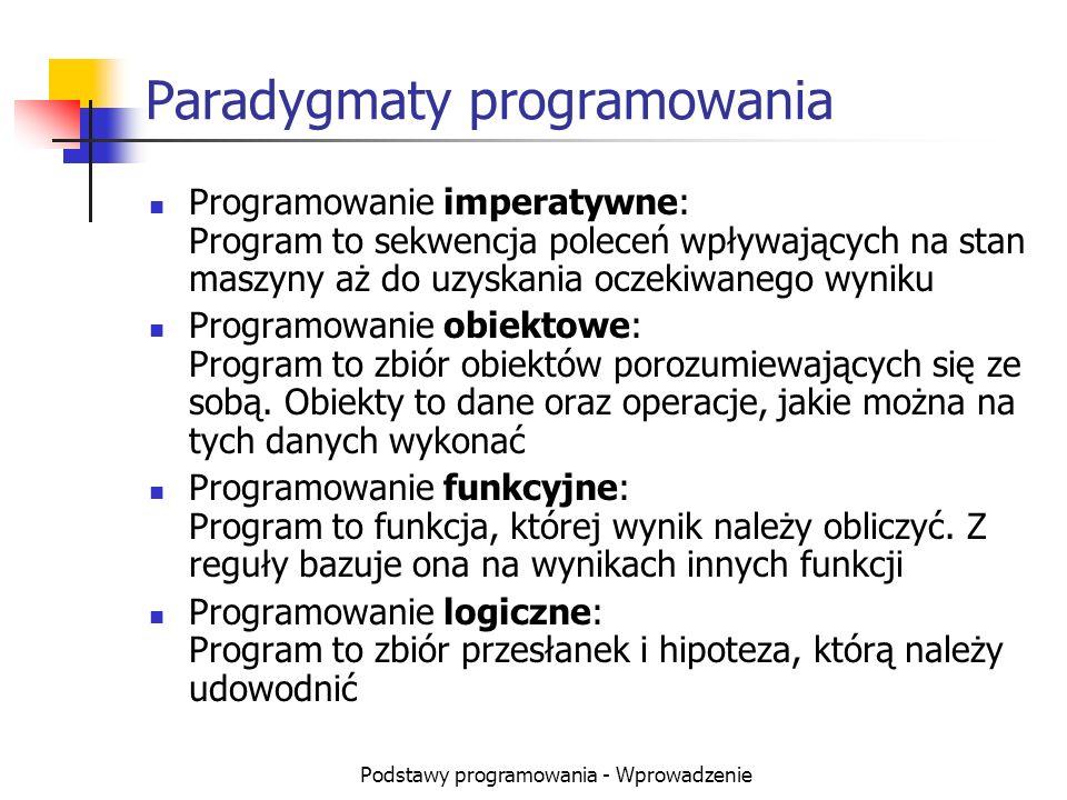 Paradygmaty programowania