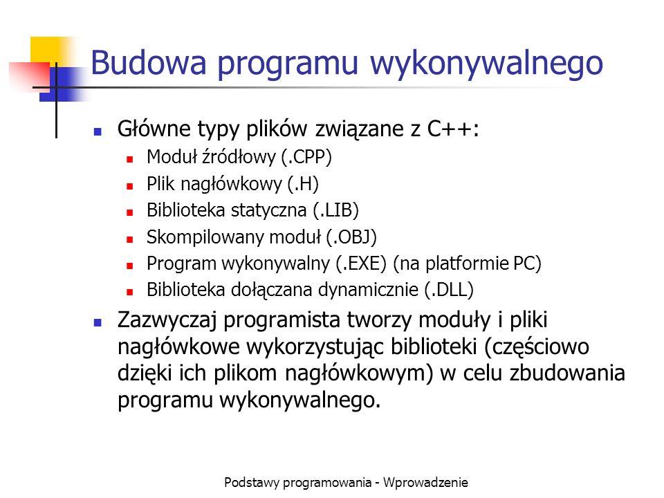 Budowa programu wykonywalnego