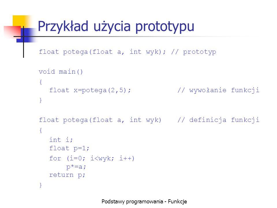 Przykład użycia prototypu