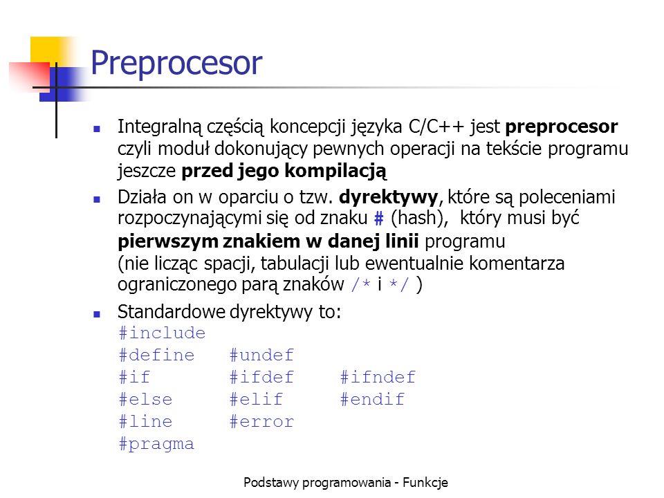 Podstawy programowania - Funkcje