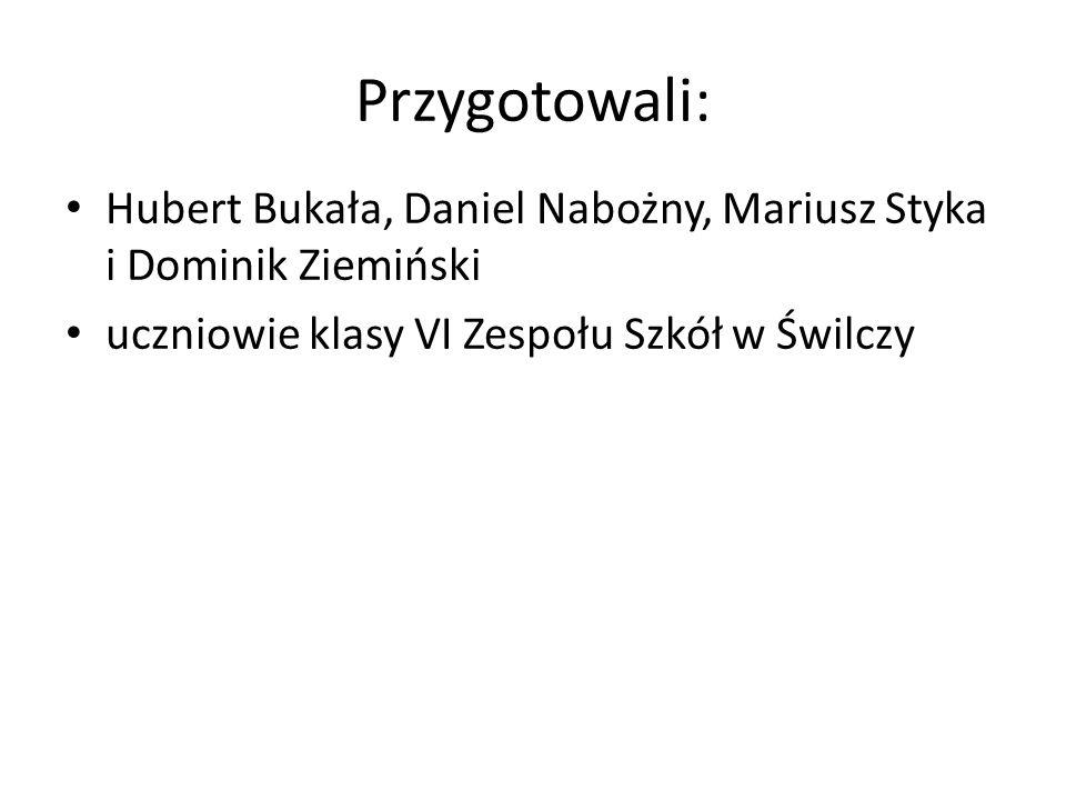 Przygotowali: Hubert Bukała, Daniel Nabożny, Mariusz Styka i Dominik Ziemiński.
