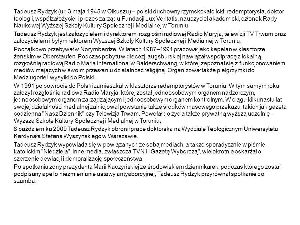 Tadeusz Rydzyk (ur.