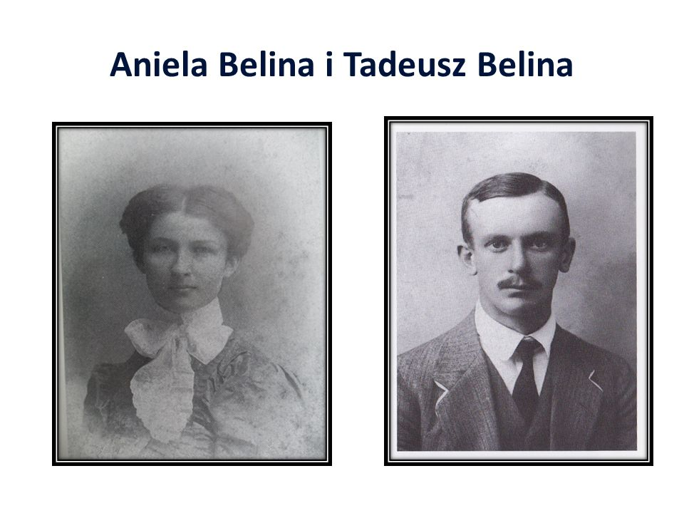Aniela Belina i Tadeusz Belina