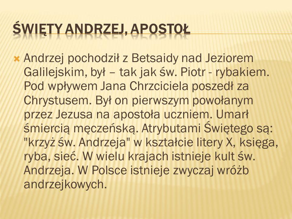 Święty Andrzej, Apostoł