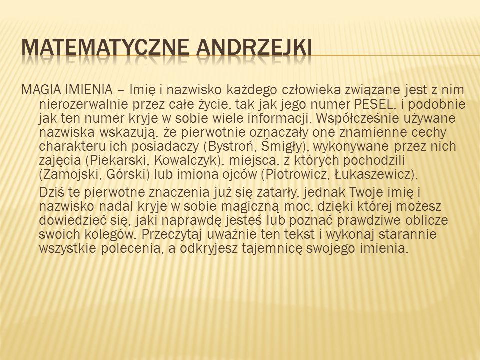 Matematyczne Andrzejki