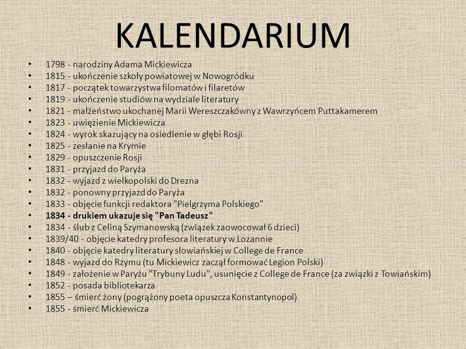 KALENDARIUM 1798 - narodziny Adama Mickiewicza