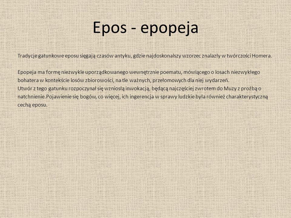 Epos - epopeja