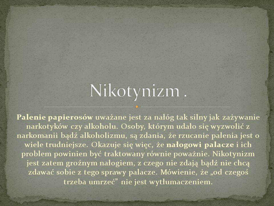 Nikotynizm .
