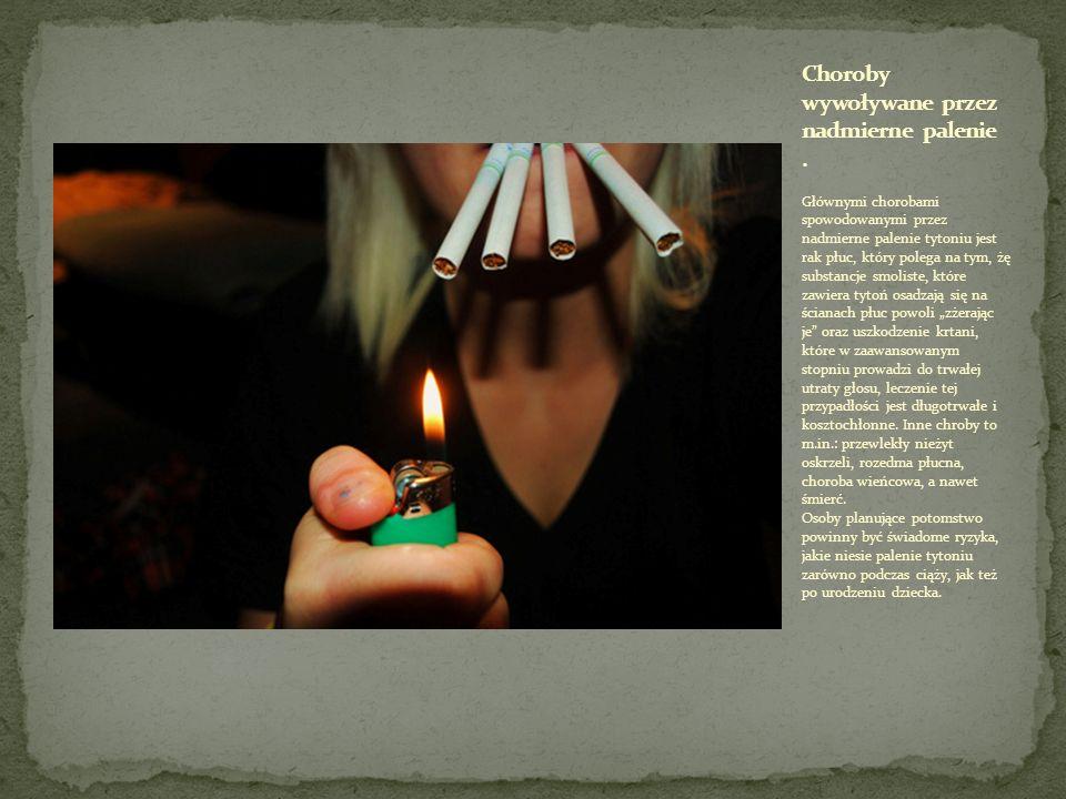 Choroby wywoływane przez nadmierne palenie .