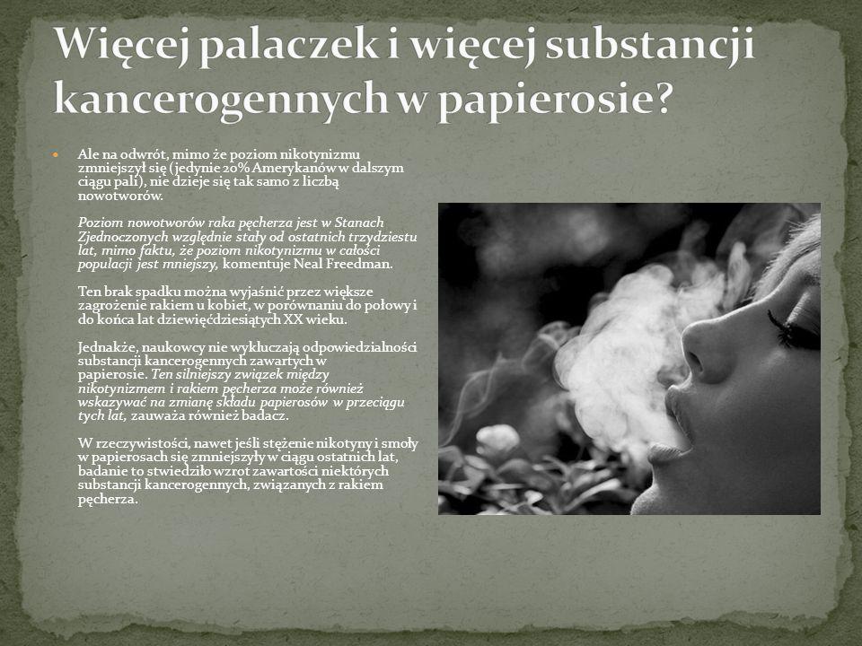 Więcej palaczek i więcej substancji kancerogennych w papierosie