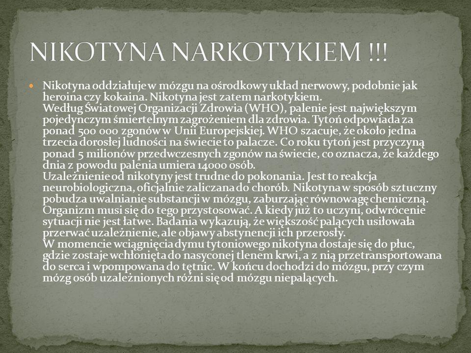 NIKOTYNA NARKOTYKIEM !!!