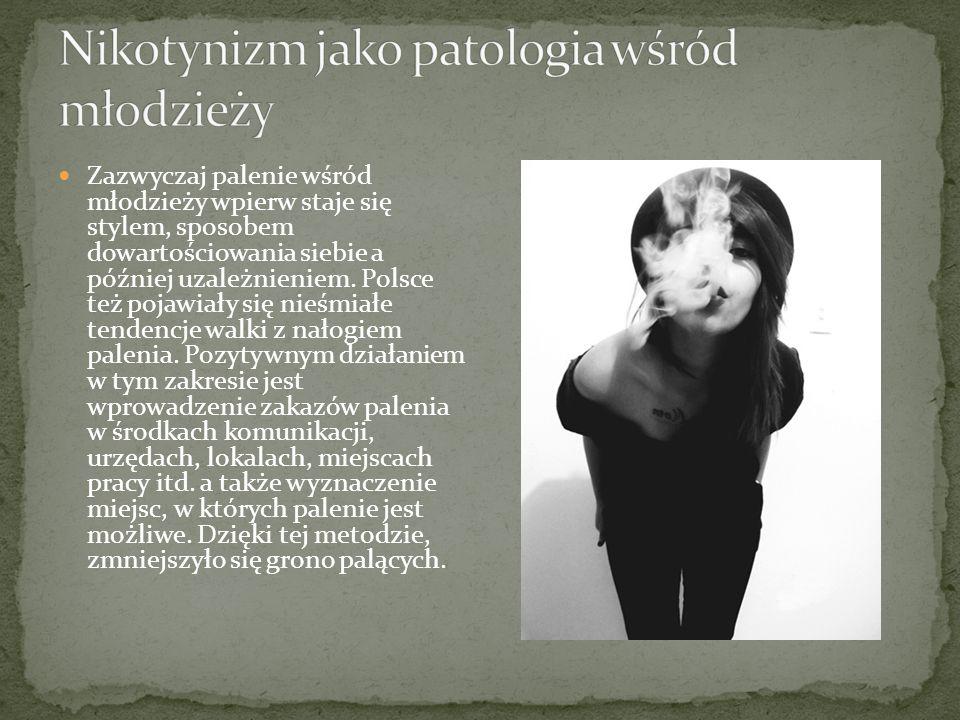 Nikotynizm jako patologia wśród młodzieży