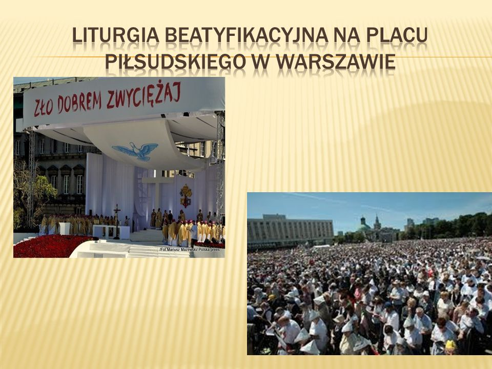 Liturgia beatyfikacyjna Na Placu Piłsudskiego w Warszawie