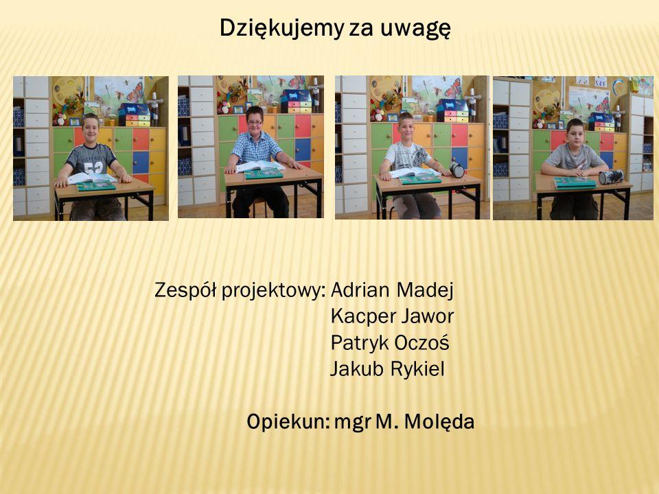 Dziękujemy za uwagę Zespół projektowy: Adrian Madej Kacper Jawor