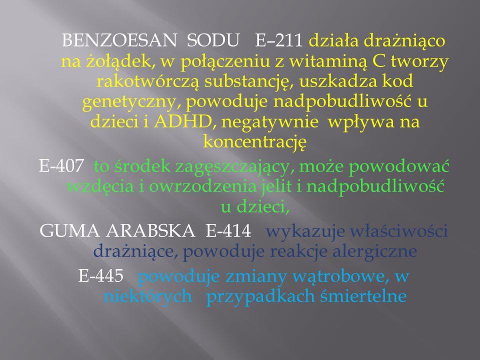 E-445 powoduje zmiany wątrobowe, w niektórych przypadkach śmiertelne