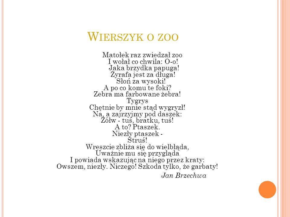 Wierszyk o zoo