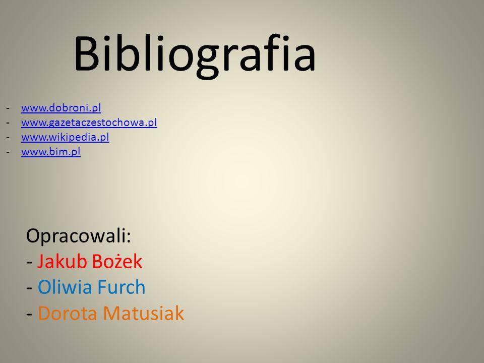 Bibliografia Opracowali: - Jakub Bożek - Oliwia Furch