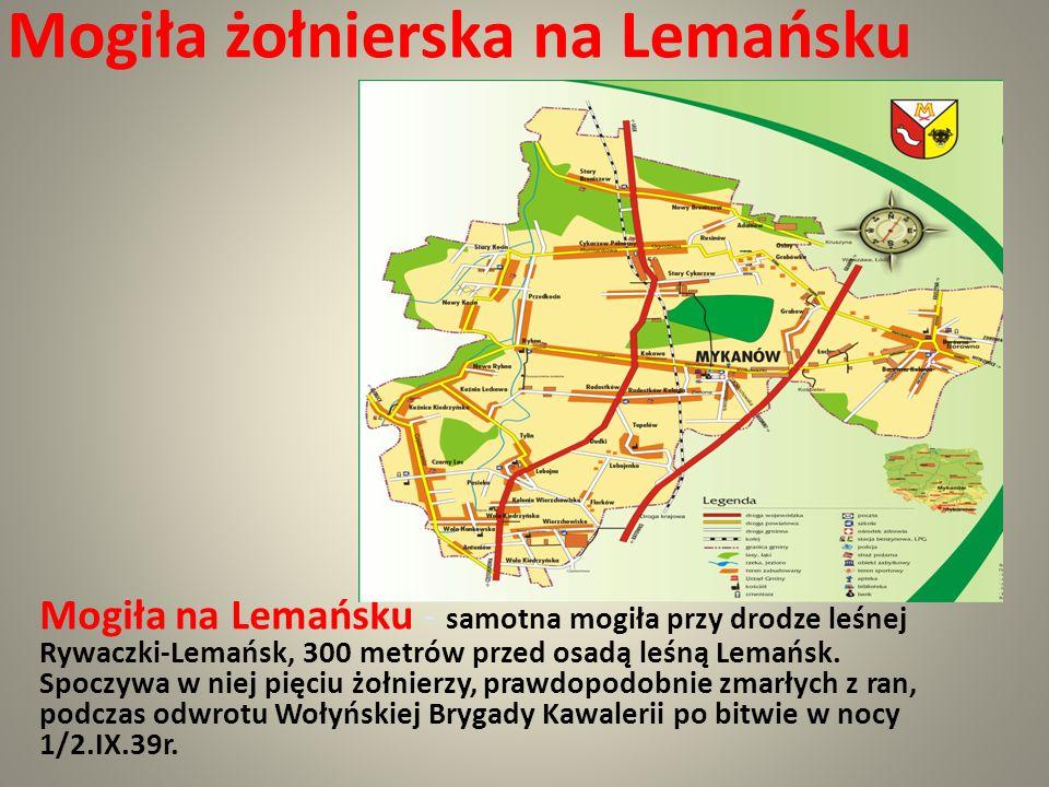Mogiła żołnierska na Lemańsku