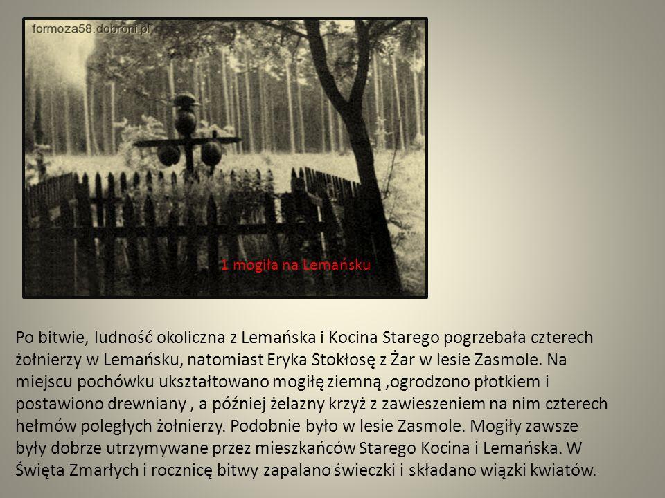 1 mogiła na Lemańsku