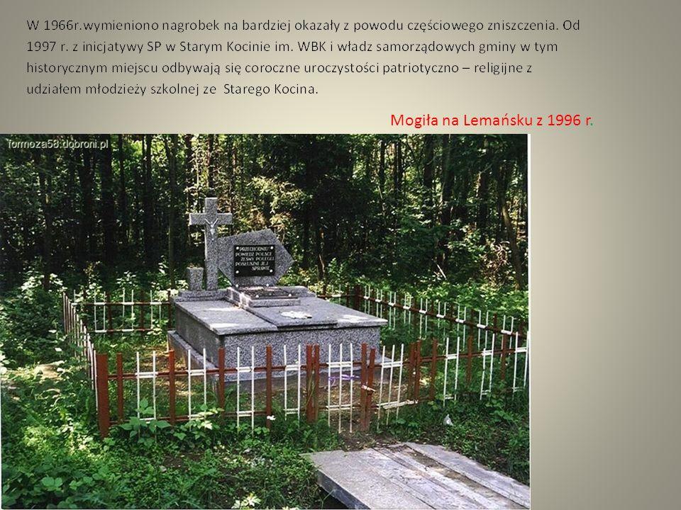 Mogiła na Lemańsku z 1996 r.